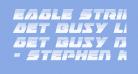 Eagle Strike Halftone Italic