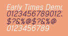 Early Times Demo Italic