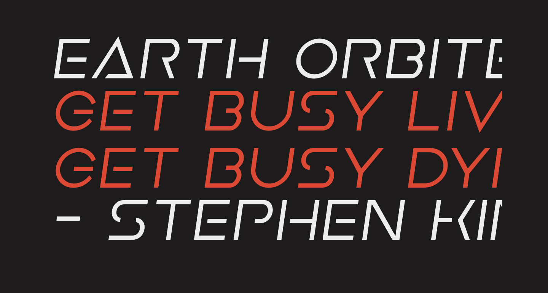 Earth Orbiter Semi-Italic