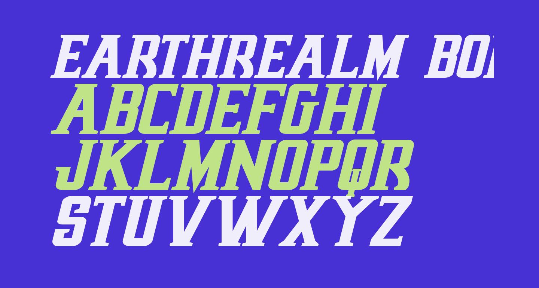 Earthrealm Bold Italic