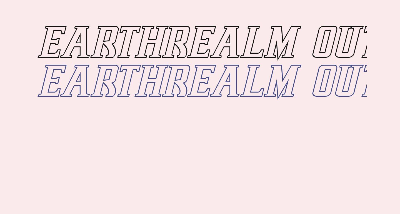 Earthrealm Outline Italic