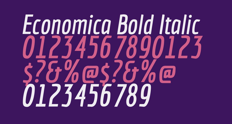 Economica Bold Italic