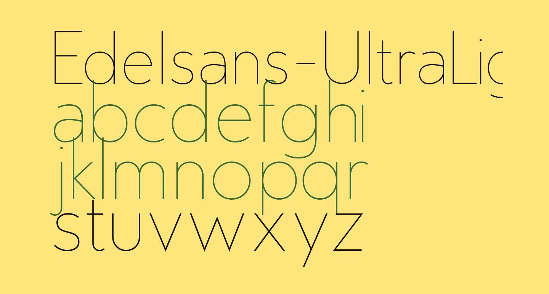 Edelsans-UltraLight