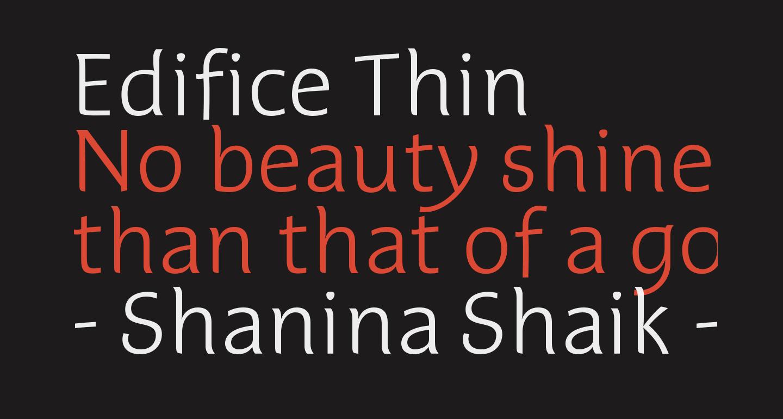 Edifice Thin