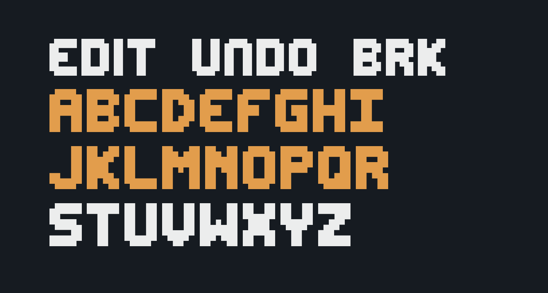 Edit Undo BRK