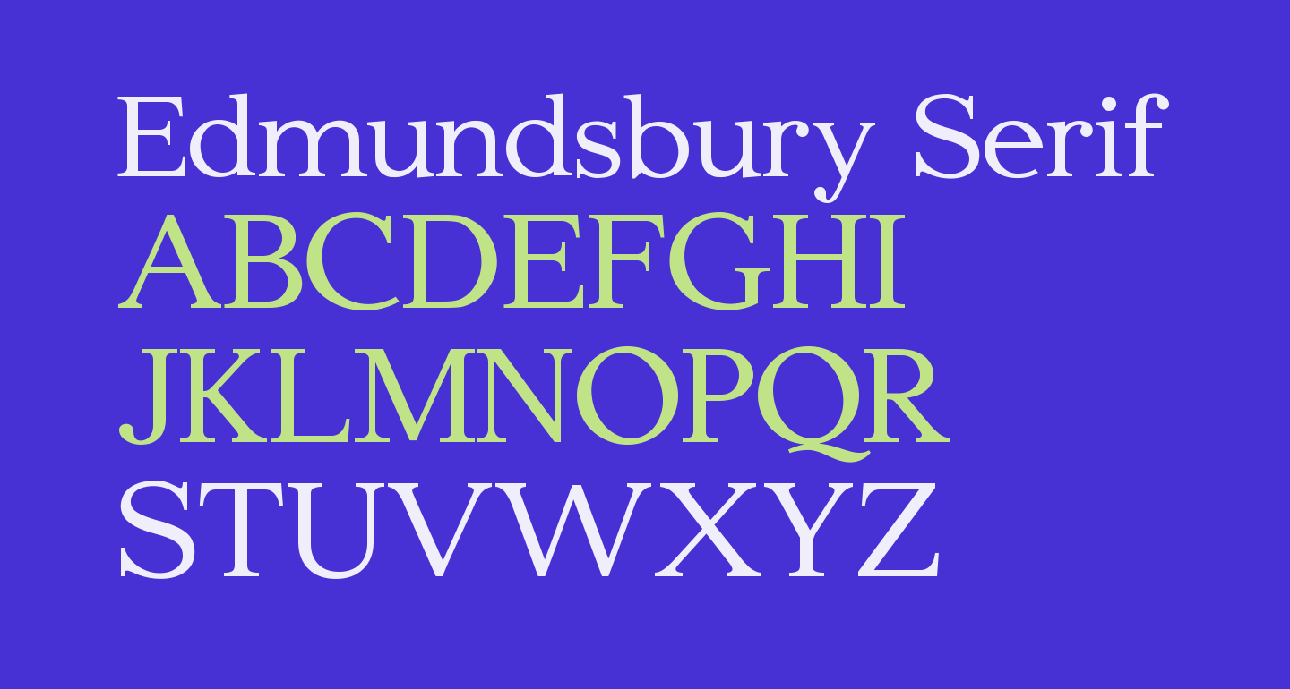 Edmundsbury Serif Regular