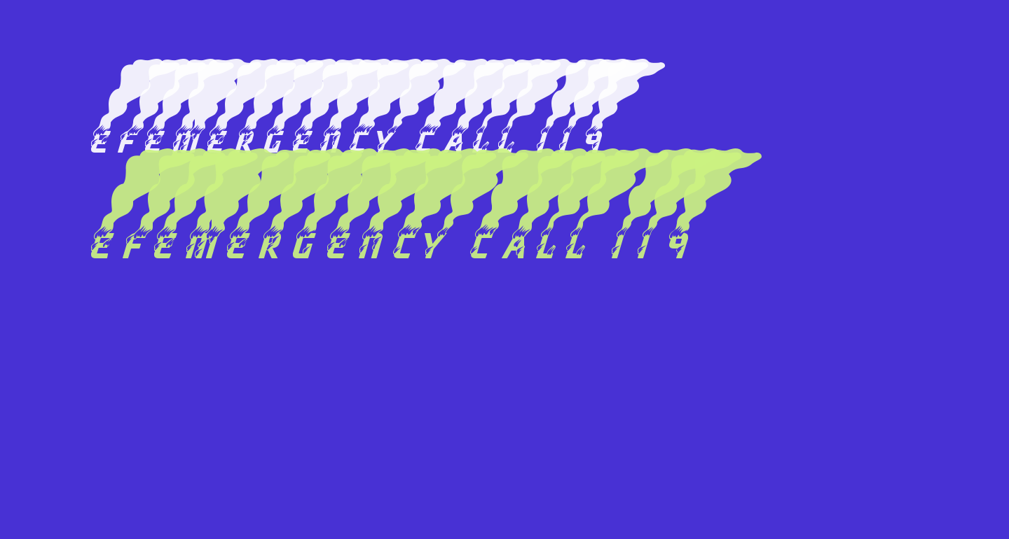 efEMERGENCY CALL 119