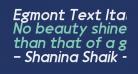 Egmont Text Italic