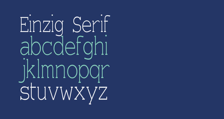 Einzig Serif