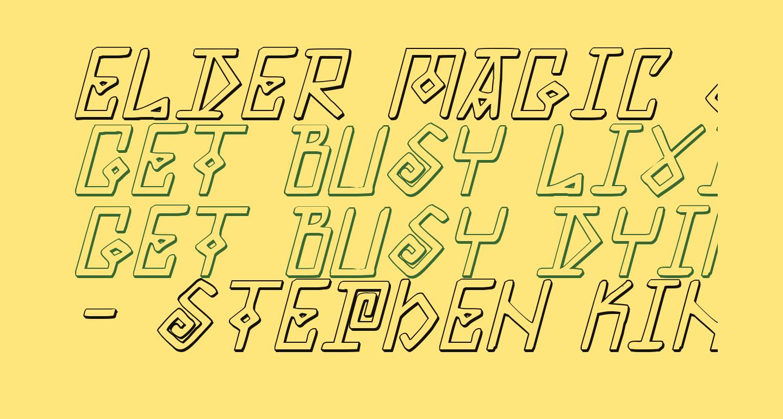 Elder Magic Shadow Italic