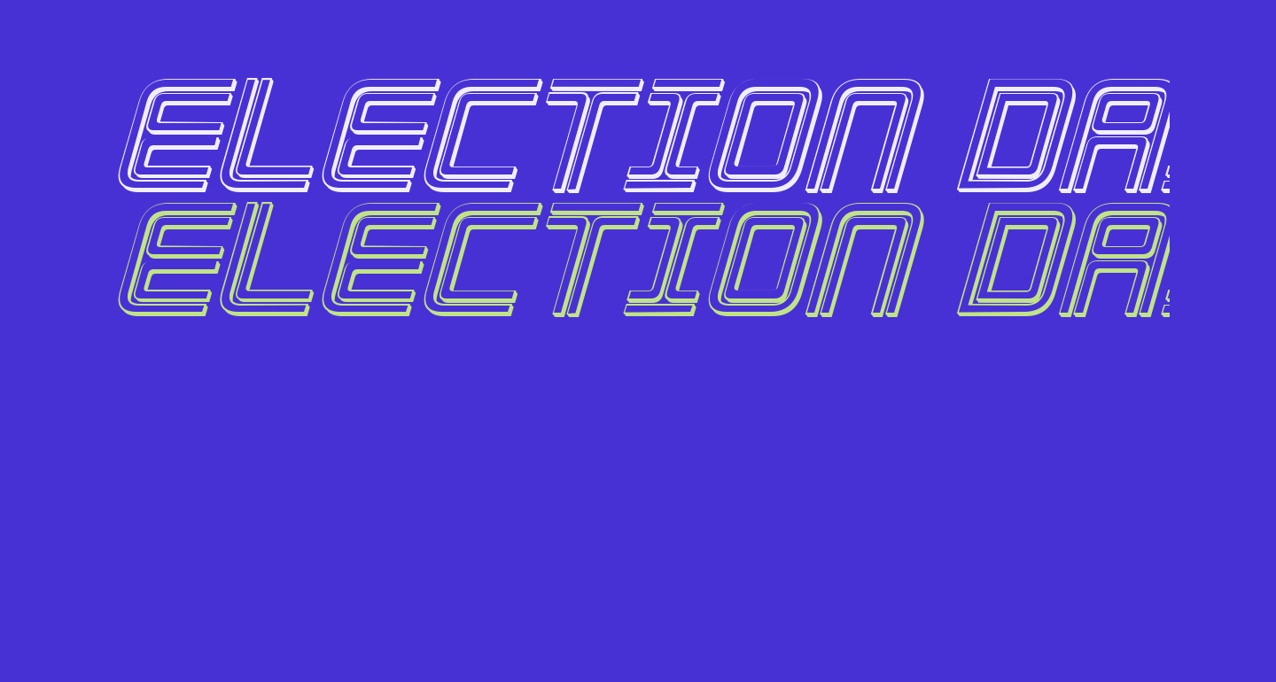 Election Day 3D Italic