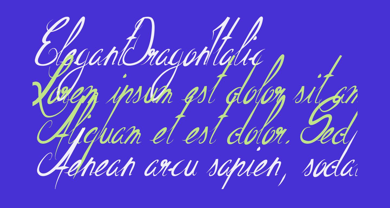 ElegantDragonItalic