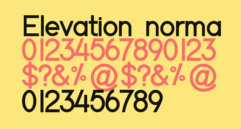 Elevation normal