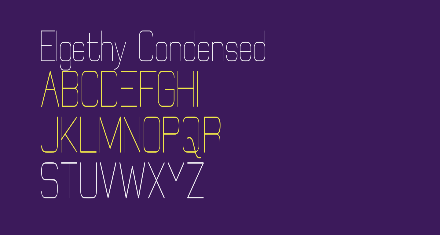 Elgethy Condensed
