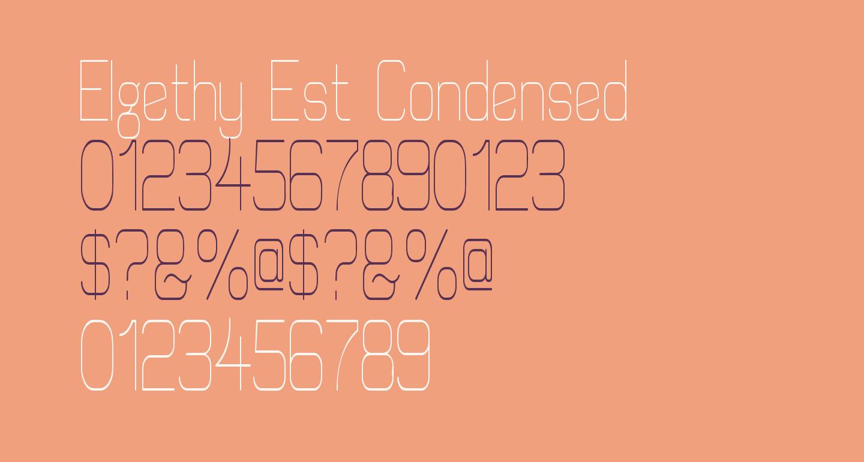 Elgethy Est Condensed