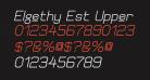 Elgethy Est Upper Bold Oblique