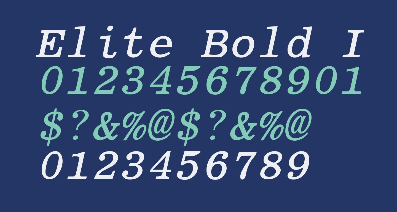 Elite Bold Italic