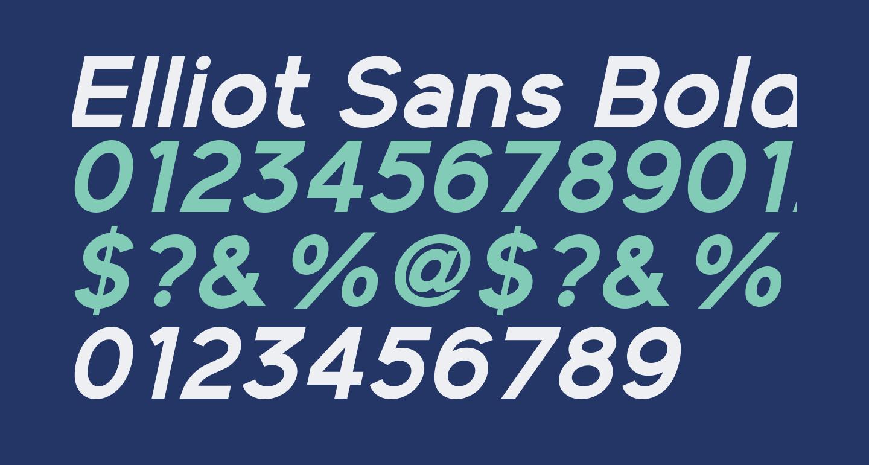Elliot Sans Bold Italic