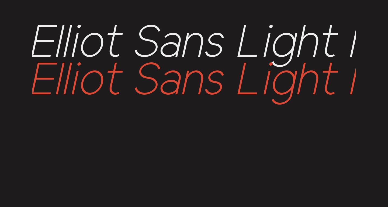 Elliot Sans Light Italic