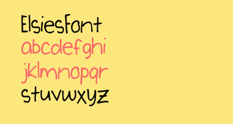 ElsiesFont