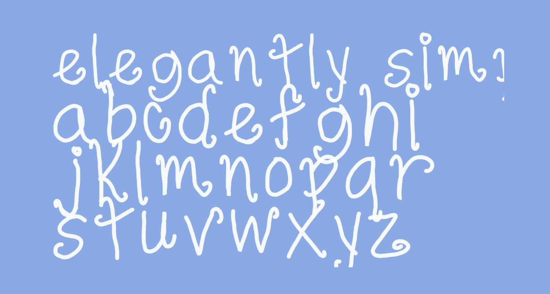 elegantly simple
