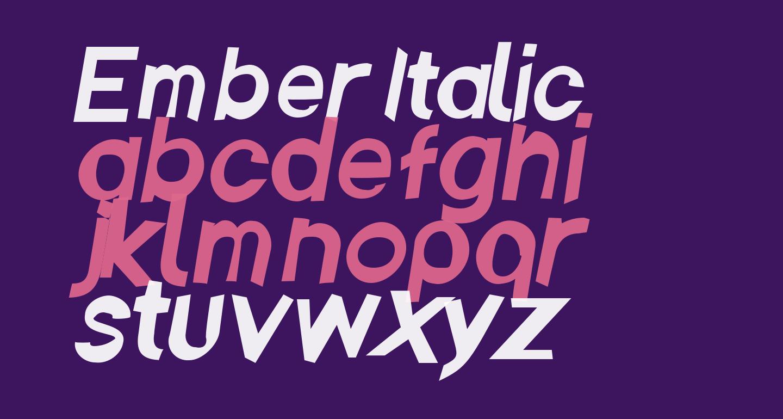 Ember Italic