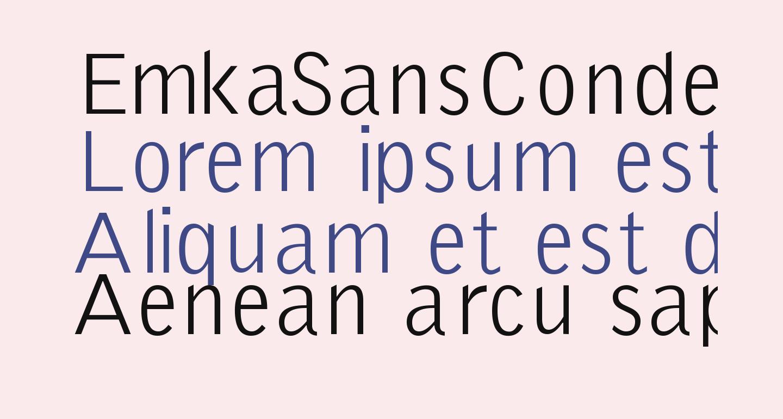 EmkaSansCondensed