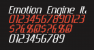 Emotion Engine Italic