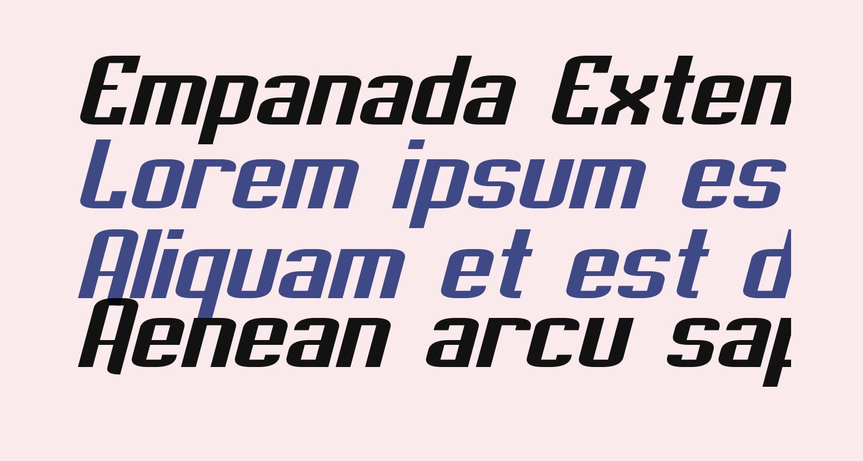 Empanada Extended Italic