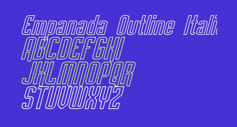 Empanada Outline Italic