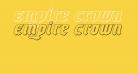 Empire Crown 3D Italic