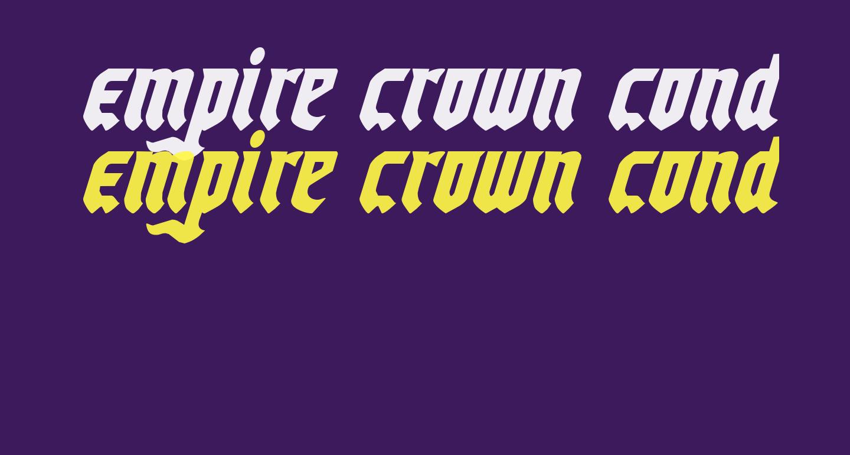 Empire Crown Condensed Italic