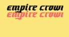 Empire Crown Expanded Italic