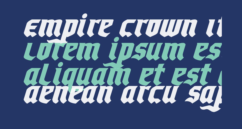 Empire Crown Italic
