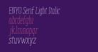 ENYO Serif Light Italic