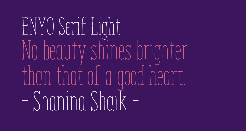 ENYO Serif Light