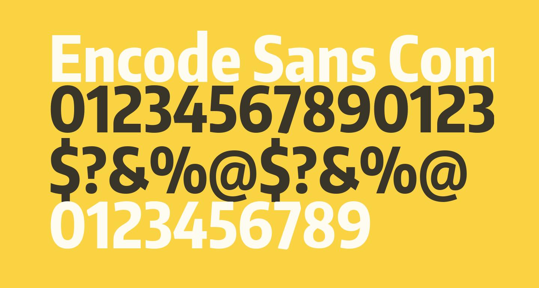 Encode Sans Compressed ExtraBold