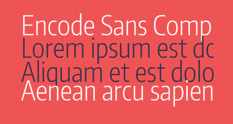 Encode Sans Compressed Light