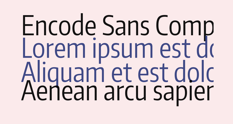 Encode Sans Compressed