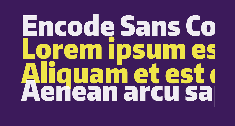 Encode Sans Condensed Black