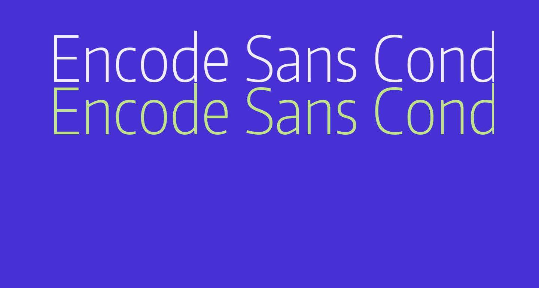 Encode Sans Condensed ExtraLight