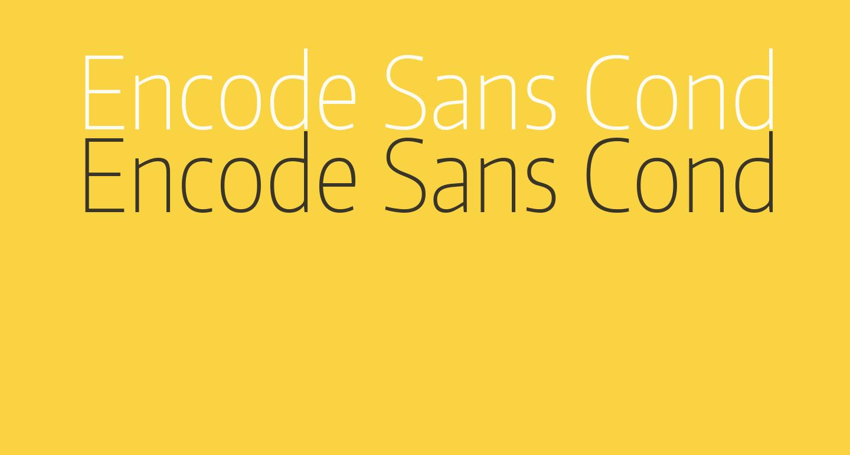 Encode Sans Condensed Thin
