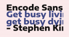 Encode Sans Expanded ExtraBold