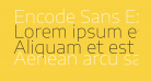 Encode Sans Expanded Thin