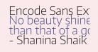 Encode Sans ExtraLight