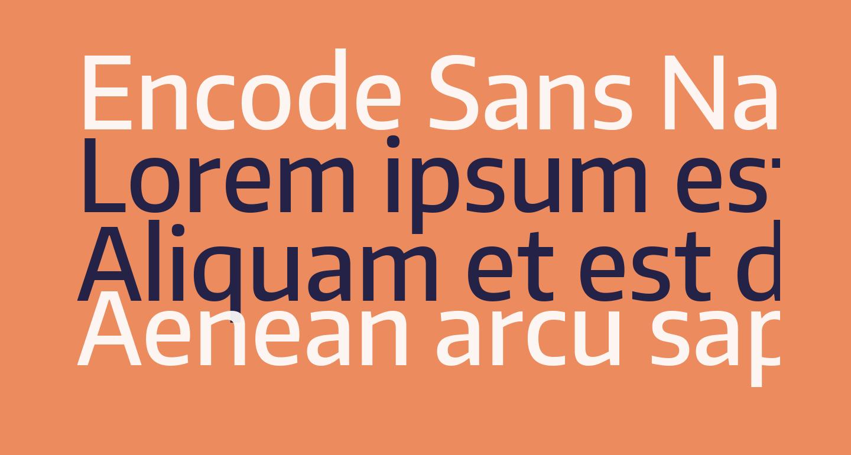 Encode Sans Narrow Medium