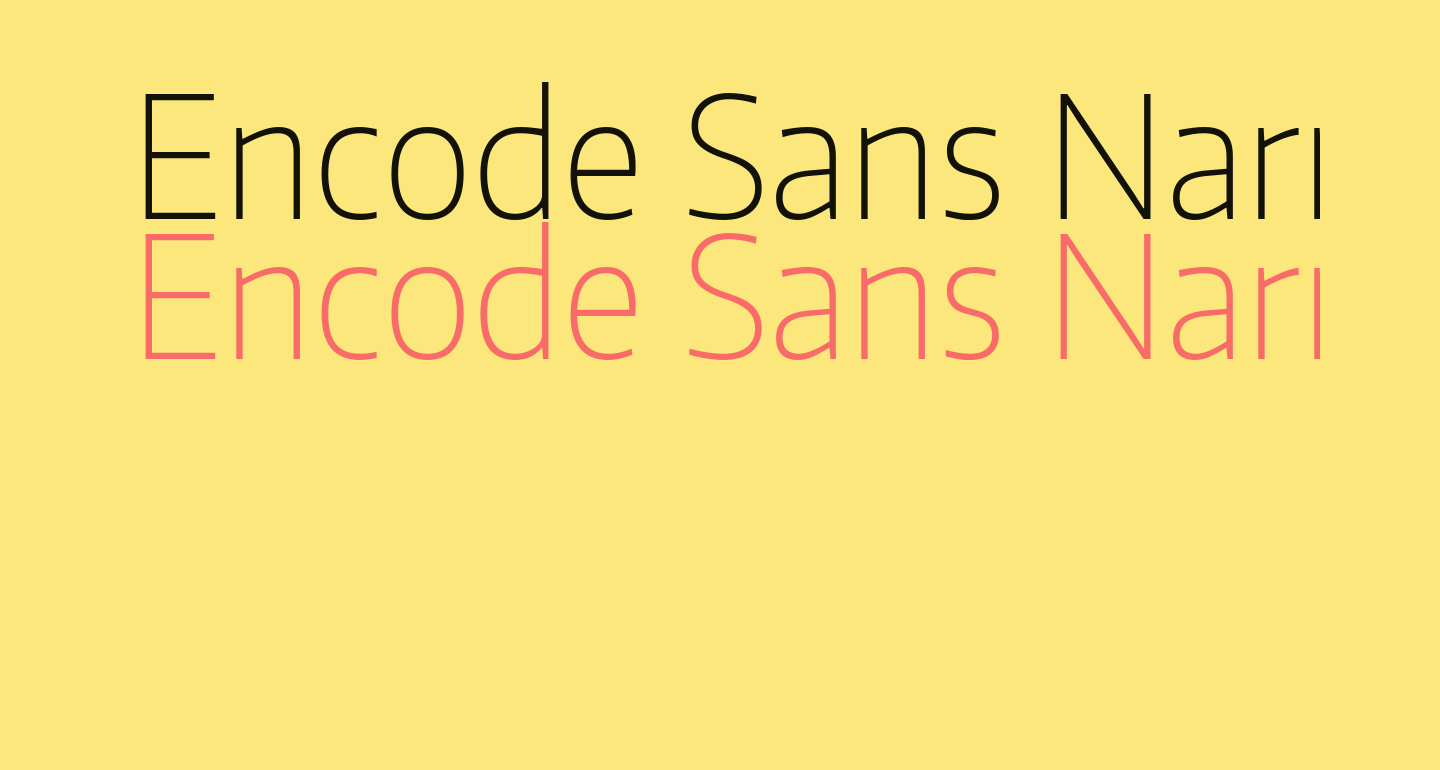 Encode Sans Narrow Thin