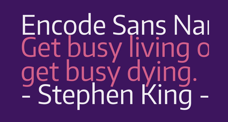 Encode Sans Narrow