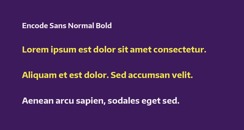 Encode Sans Normal Bold