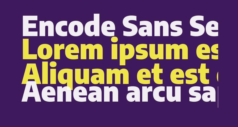 Encode Sans Semi Condensed Black